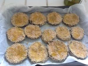 chips al forno di melanzane agli aromi