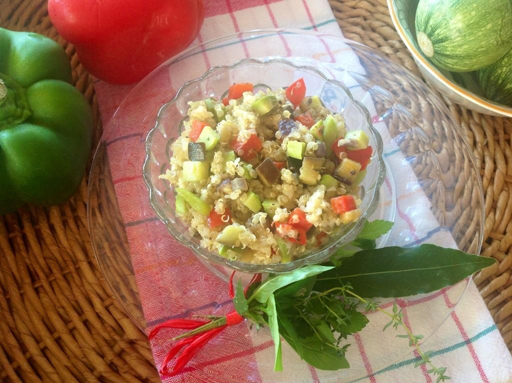 quinoa con verdure alla provenzale