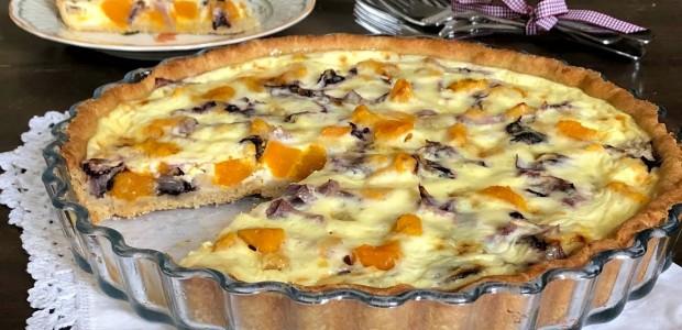 Torta salata di Zucca e Radicchio